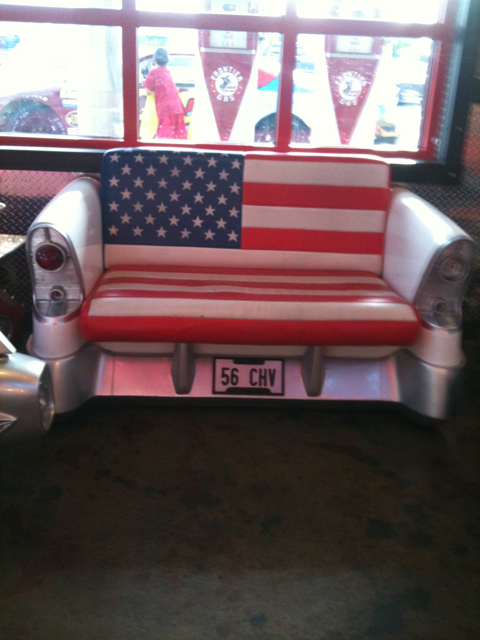 uncomfortable couch. Although I Have Never Given Much Thought To American Flag Etiquette, Sure Wonder If This Couch Is In Flagrant (and Gross!) Violation Of It. Uncomfortable T