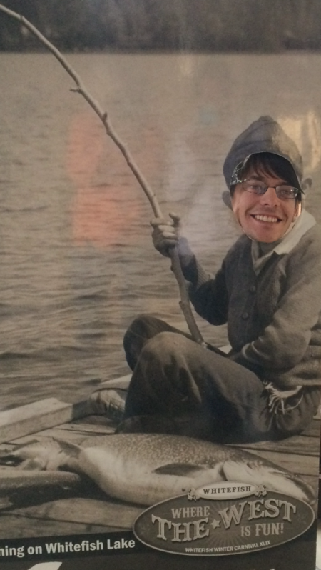 Ben, you caught that huge fish with a stick?