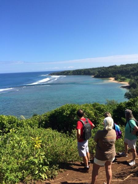 Overlooking Pila'a Beach