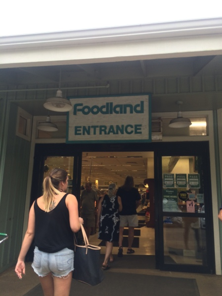 David and Steph entering Foodland