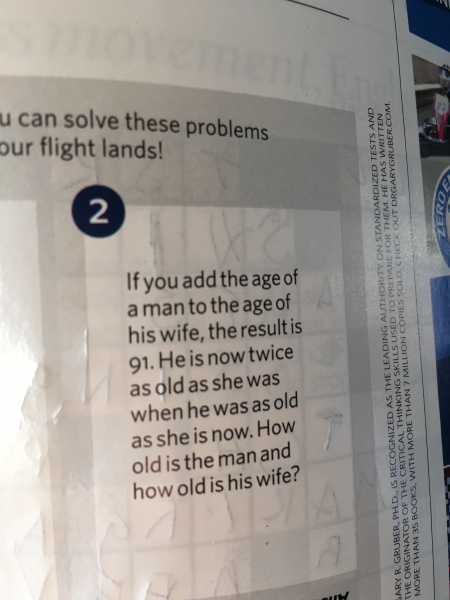 Solve it before we land!