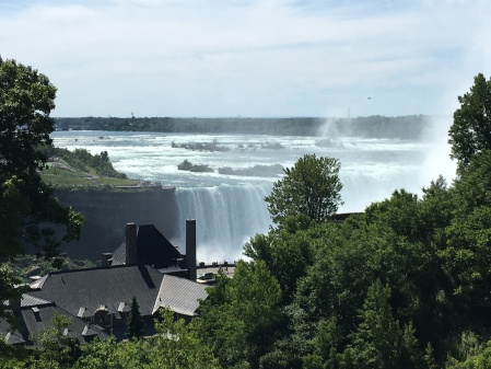 View of the Falls from the second floor balcony of the Skylon Tower