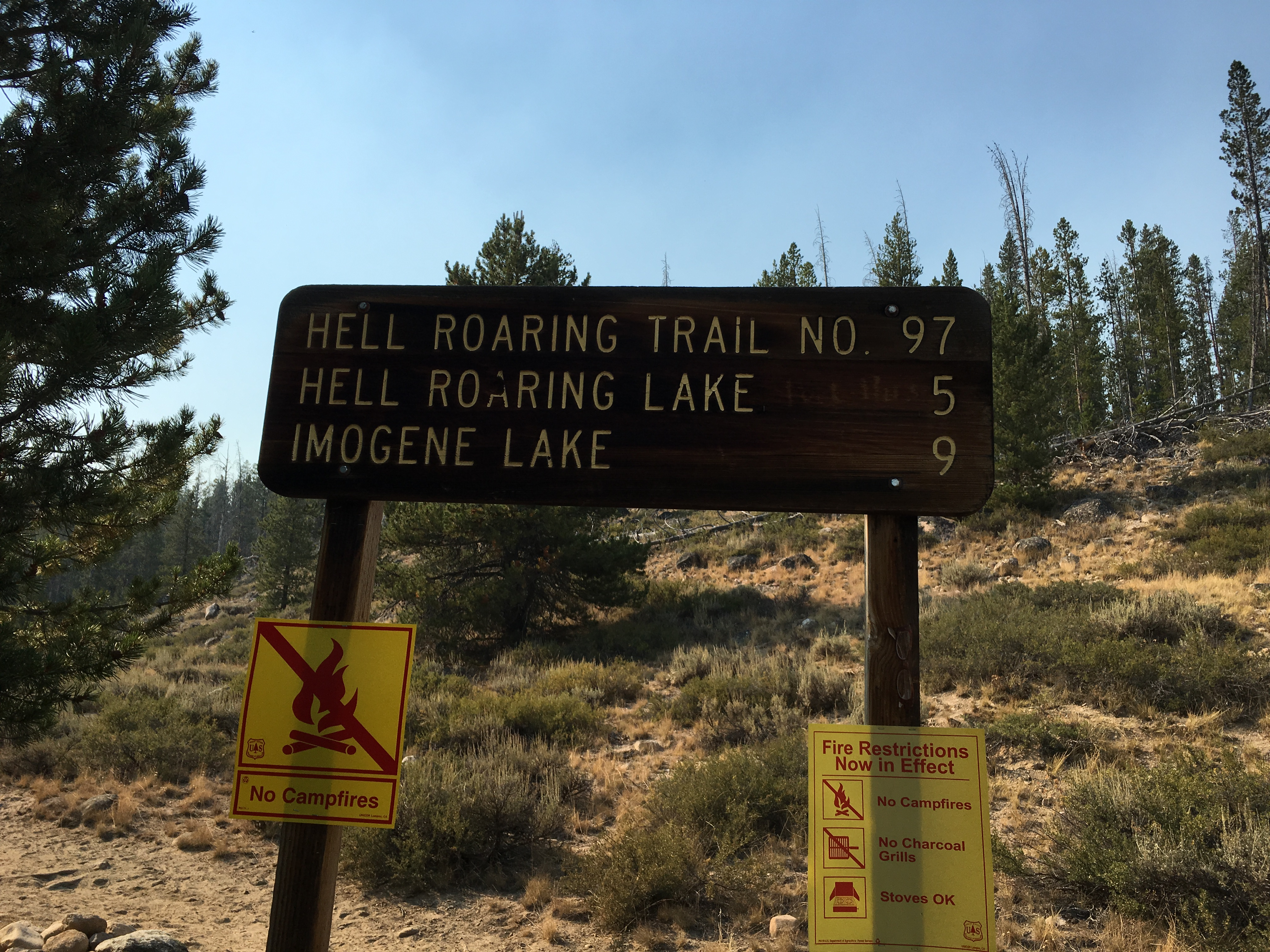 5 miles to Hell Roaring Lake!