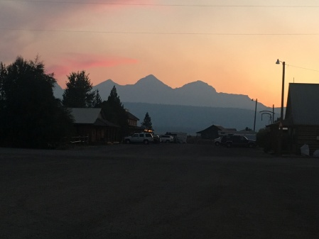 Sunset view of Sawtooths from Stanley