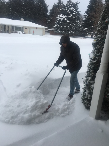 Ben shovels us out
