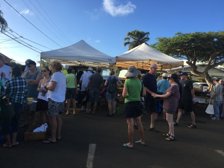 Kilauea Farmer's Market - 4:27 pm - open in three minutes!