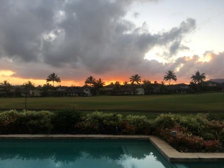 Kauai sunrise, January 26, 2017